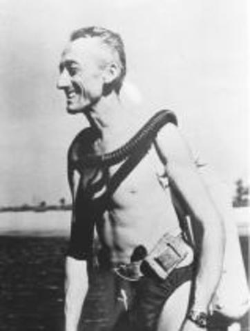 1943- Jacques Cousteau develops SCUBA
