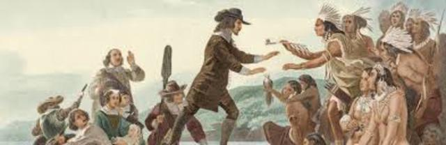 Roger Williams arrived in Rhode Island