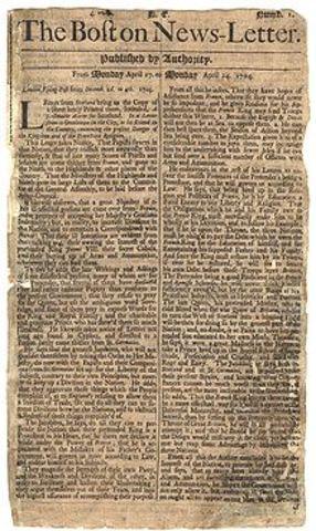 Newspaper in Boston