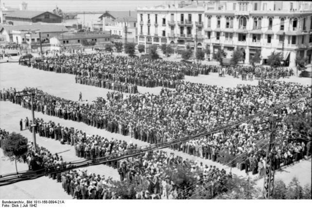 """8000 Jews sent from Sosnowiec to Auschwitz after reporting to Dienst Stadium for """"document inspection"""""""