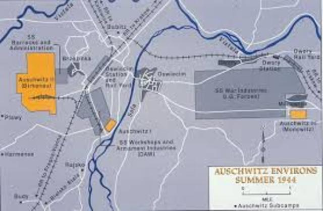 The Auschwitz camp begins functioning