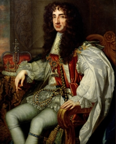 The English Monarchy is Restored Under King Charles II