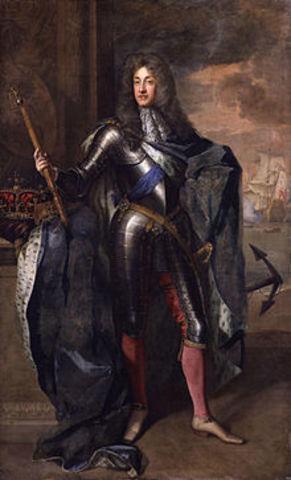 King James II Flees to France