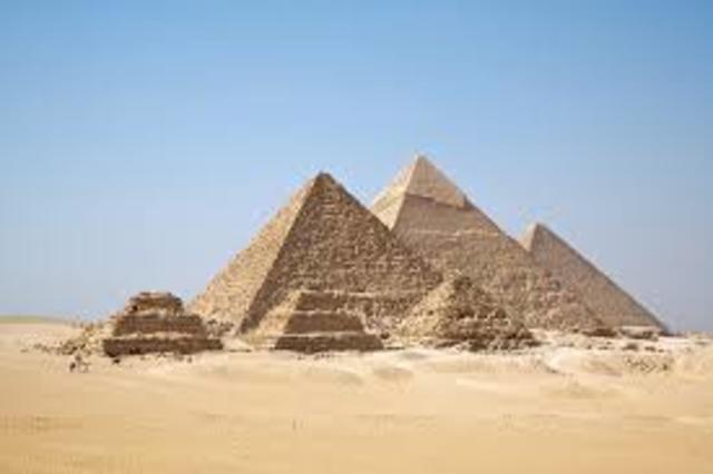 Creation of Egyptian Pyramids