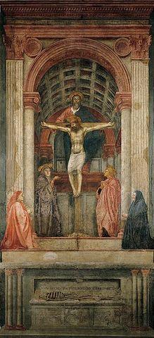 Masaccio develops linear perspective