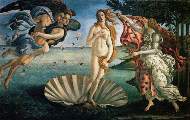 Botticelli paints Birth of Venus