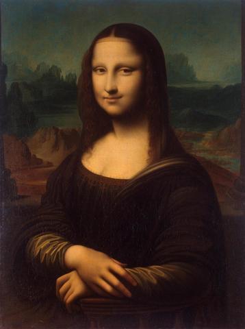 da Vinci paints Mona Lisa