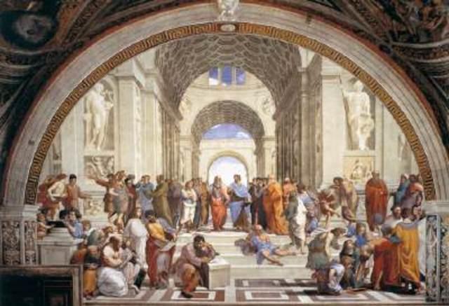 Rafael paints The School of Athens
