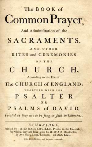 Book of Common Prayer published