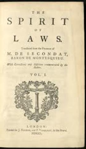 Montesquieu publishes Spirit of Laws