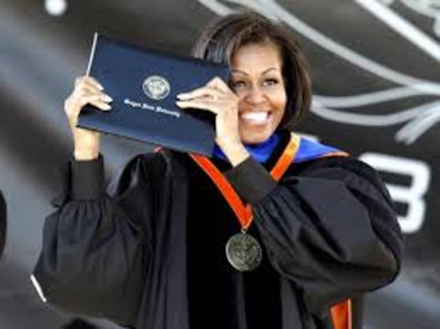 Michelle Graduates from Harvard