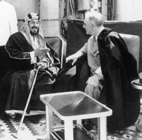 Announced Ibn Saud the King of Hejaz.
