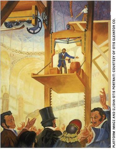 ELISHA OTIS GRAVE: ELEVATOR BRAKE