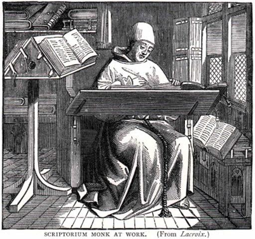 """La cultura del """"scriptorium"""" (Edad Media)"""