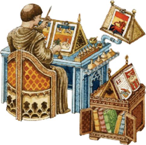 La elaboración de los libros.