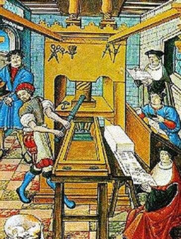La invención de la imprenta (1450)