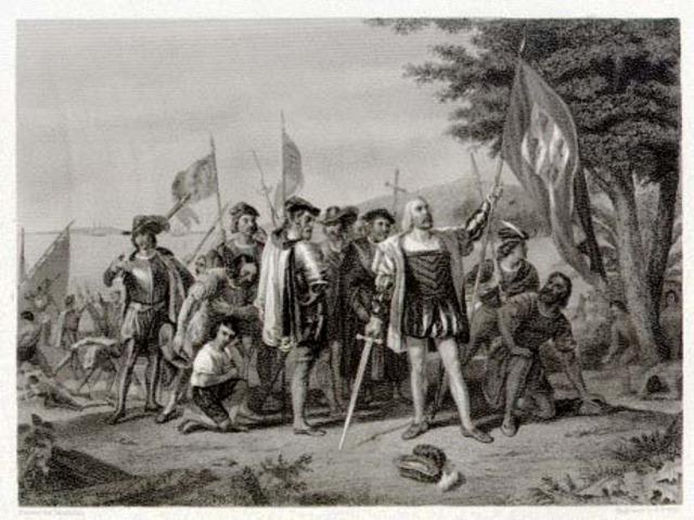 Columbus reaches Carribean