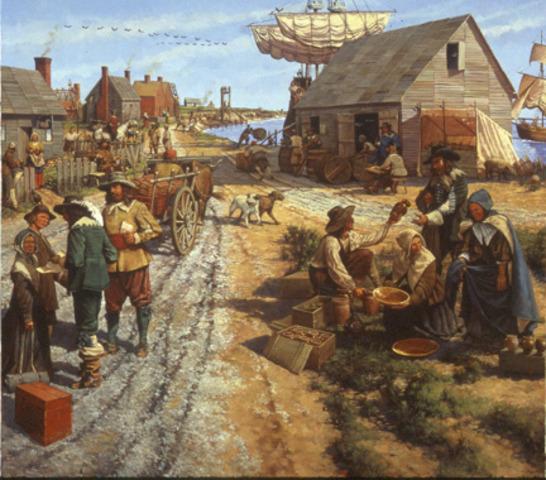 Landing in Jamestown