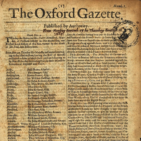 Los primeros periódicos