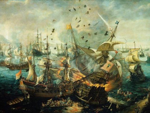 England defeats the Spanish Armada