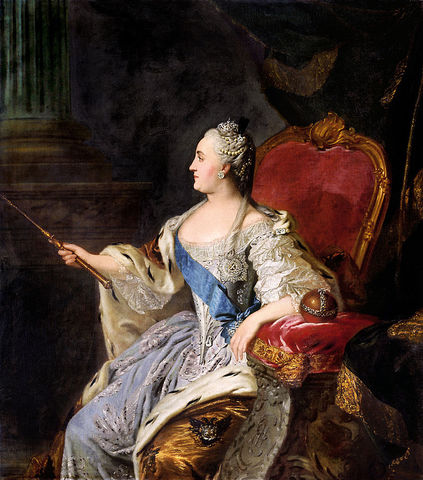 Catherine the Great becomes the Czarina of Russia