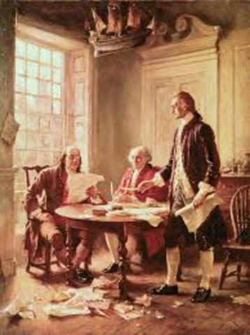 The British colonies of North America declare their Independence