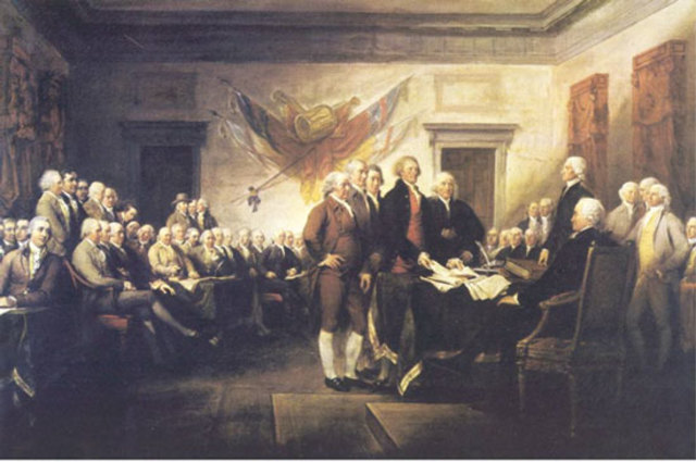 The British Colonies Declare Independence