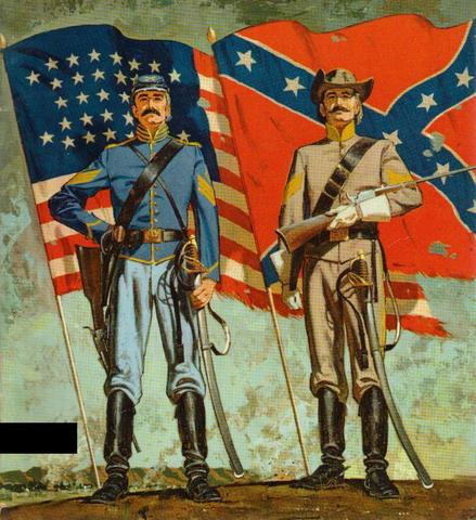 The civil War begins in The United States