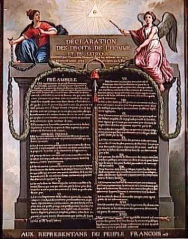 Aprobación de la Declaración de los Derechos del Hombre y del Ciudadano