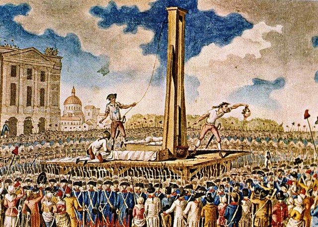Ejecución en la guillotina de Luis XVI