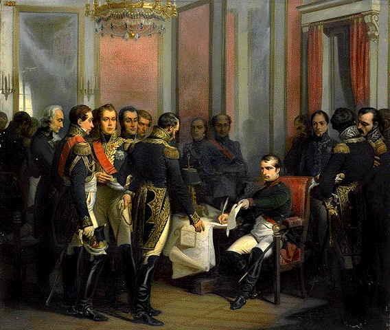 Abdicación de Napoleón. Luis XVIII, rey de Francia