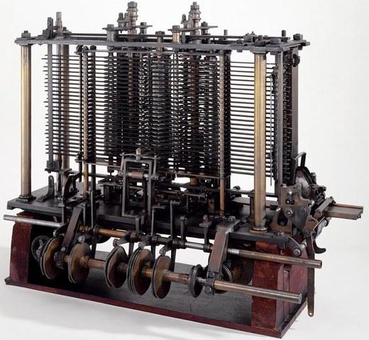 Модель «Аналитической машины» Бэббиджа, созданная по проекту автора