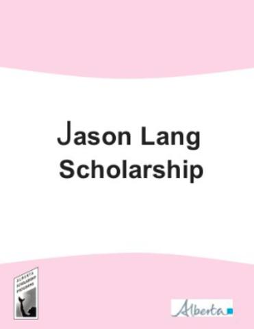 Jason Lang Scholarship Recipient