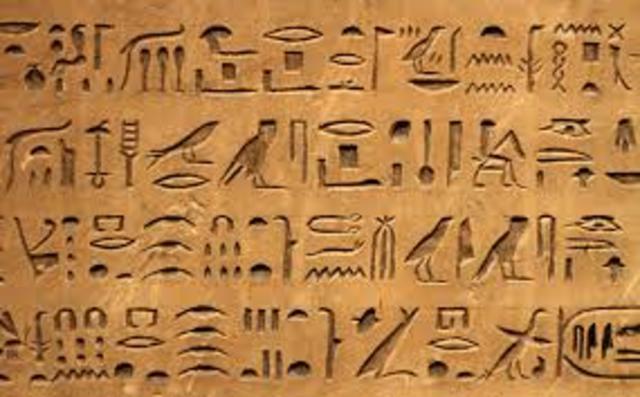 Jeroglíficos (300,00 años a.C)