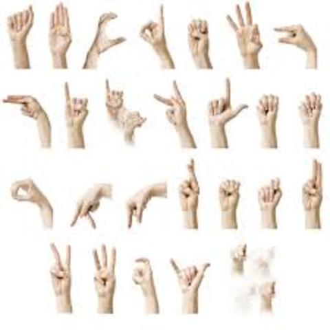 lenguaje de señas (año 1620)