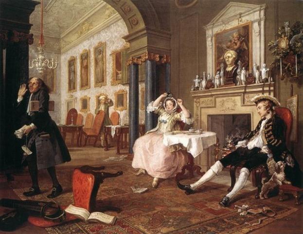 The Tête à Tête, from Marriage à la Mode