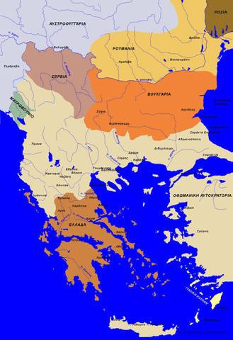 αντίπαλες δυνάμεις στον Α΄Βαλκανικό πόλεμο