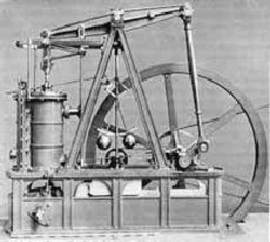 Джеймс Уатт (James Watt) создает паровой двигатель.