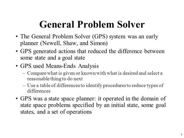 Программа GPS (General Problem Solver)