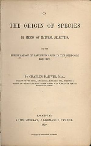 Charles Darwin publishes The Origin Of Species