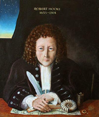 1665 Robert Hooke publica el libro