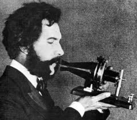 """Alexander Bell applies for the patent """"Improvements in Telegraphy"""", for electromagnetic telephones using undulating currents."""