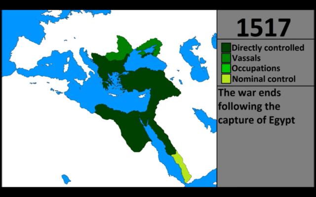 Osmannerne vinder land i mellemøsten