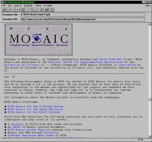 Первый графический браузер