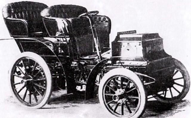 eerste auto's op rubberbanden