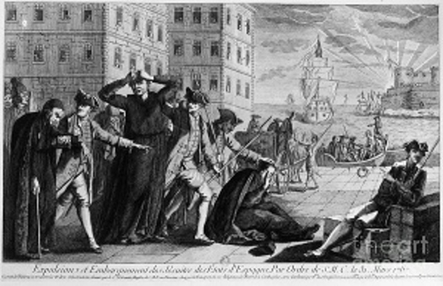 Jesuits are expelled from Spain (1767)
