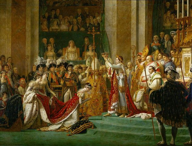 Napoleon is crowned as emperor (1804)