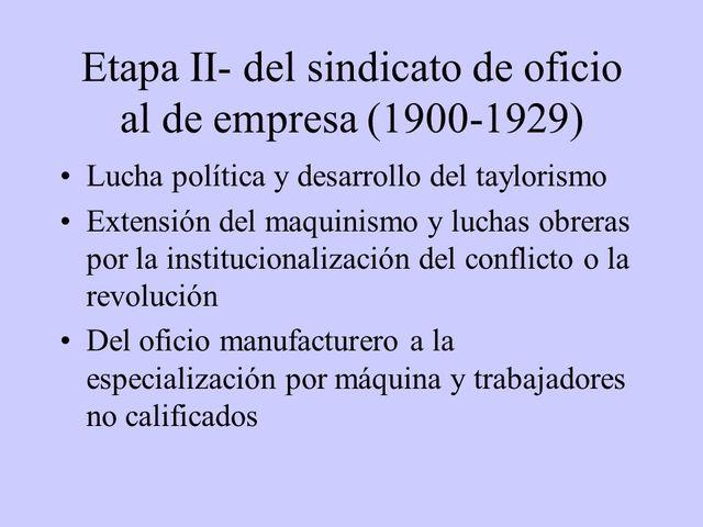 INICIOS DEL SIGLO XX  • 1901 - 1919