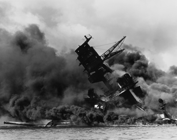 The Japanese attack the U.S. Naval base at Pearl Harbor, in Hawaii, and Canada declares war on Japan.
