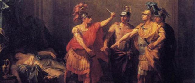 Expulsión de Tarquino el soberbio, último monarca etrusco.